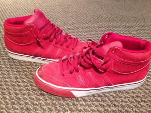 [_Red/White Adidas High Tops_]