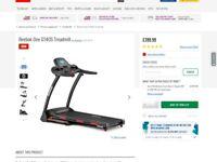 Reebok treadmill 2 month's old