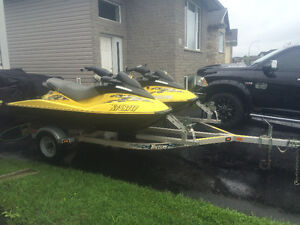 Two seadoos with new trailer