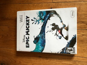 Epic Mickey game for Wii