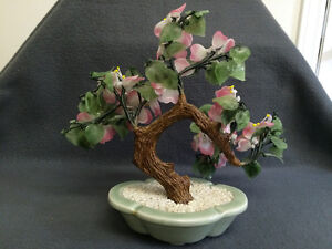 Collectible Antique Vintage Asian Jade Peking Glass Floral London Ontario image 4