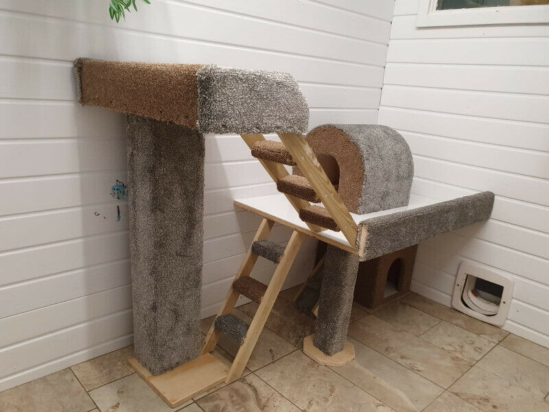 Handmade Bespoke made-to-order cat furniture, cat gyms and play centres