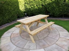 Brand New Adults Premium quality heavy duty picnic bench garden table