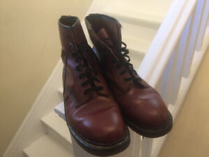 Doc Marten Boots - Men Size 10 Made In England Cherry Red