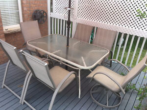 Used outdoor patio set