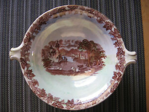 "VINTAGE MALING,NEWCASTLE-ON-TYNE,ENGLAND 8"" BOWL WITH HANDLES,"