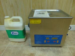 LARGE ULTRASONIC CLEANER. MODEL #1990QTD  9 LITRE CAPACITY.