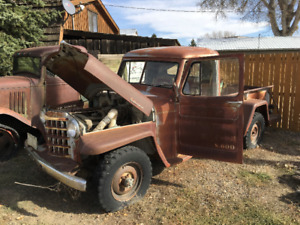 wanted to buy year 1951 to 1958  willeys jeep pickup .to restore