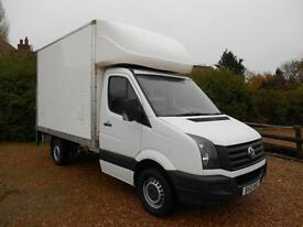 2012 12 VOLKSWAGEN CRAFTER CR35 2.0TDI 109 MWB LUTON BOX TAIL LIFT AIRCON 1OWNER