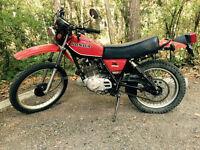 1978 Honda XL250S dual purpose motorcycle