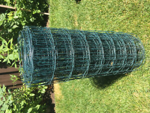 Garden Zone Green PVC Coated Steel Welded Wire Fence 50-ft x3-ft