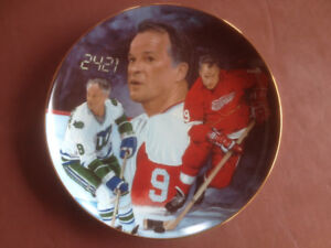 Mr. Hockey, Gordie Howe, collectible plate