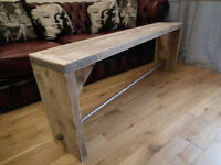 Handmade Bench- scaffold board pipe garden pub bar rustic industrial