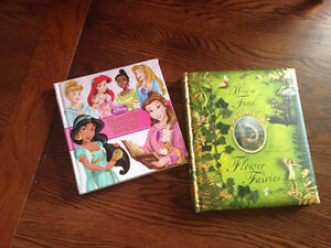 Two books - Disney Princess bedtime stories and Flower Fairies