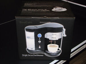 New-in-box SunCafe Pod Brewer