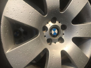 4 BMW 5 series rims and Winter tires 245 40 18 almost new