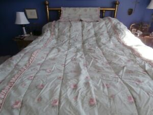 LAURA ASHLEY BEDSPREAD SHAM DUST RUFFLE CURTAIN