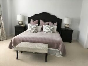 REDUCED-Upcountry bed headboard for king bed