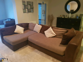 Corner Sofa plus 2 Seater Sofa & Footstools