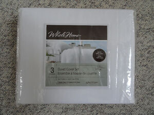 NEW - King Duvet Cover Set - Whole Home