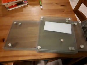 Glass shelves. Never used. 24x10.5 and 12x10.5