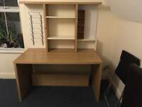 IKEA desk with shelving