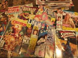 Comics (1 dollar up to 5 dollars each)