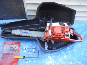HUSQVARNA CHAINSAW-DEWALT 18v HAMMERDRILL--CHARGER/RADIO & 2 BAT