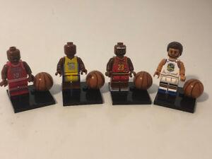 MEGA DEAL!! All 4 Michael Jordan Basketball Lego Men Figures