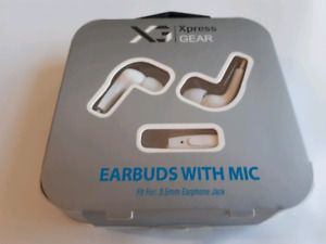 Xpress GEAR Earbuds with Mic - White