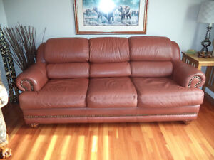 Genuine Leather Couch London Ontario image 1