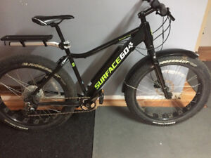 2017 Surface604 Boar E350 Electric Fat Bike Black