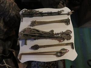 1920'S DIFFERENT METAL CURTAN RODS 14 TOTAL SELLING ALL TOGETHER