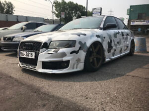 2005 Audi A4 S-line fully modified + air ride 514-945-8282