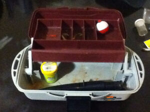 basic tackle box with some items $5 Kingston Kingston Area image 2
