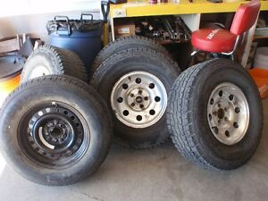Tires and aluminum Rims plus spare