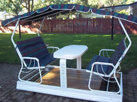 Patio Glider Dual Bench/Table