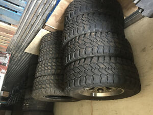 "F-350 20""Rims and 2 sets of 37"" MT Tires"