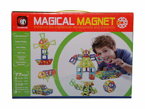 77 pcs Magical Magnet Toys Magnetic Construction Like Magformers