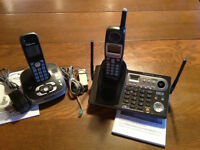 TWO PANASONIC PHONES