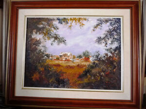 "Original Oil by Jean Johnson ""Across The Fields"" Listed Artist Stratford Kitchener Area image 1"