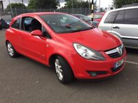 57 plate vauxhall Corsa 1.4 petrol red