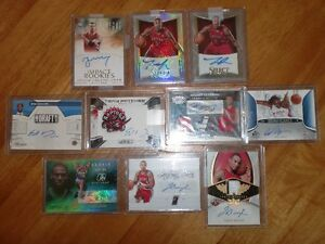 Raptors autographed signed Cards Valanciunas Ross Johnson