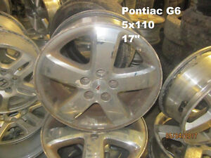 SETS OF FOUR (4) PONTIAC/CHEVY WHEELS @ PIC N SAVE WOODSTOCK