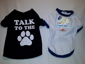 2 Dog or Puppy Shirts Size Small