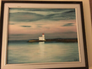 Painting of Parrsborro Lighthouse
