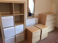 IKEA Malm 2 bedside tables & 2 Chest of drawers & Kallax shelves