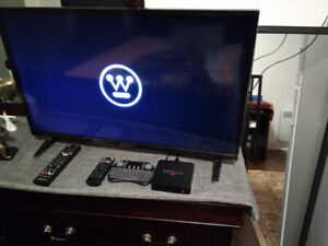 "Westinghouse smart TV 32""+ Android box+ antenne tv"