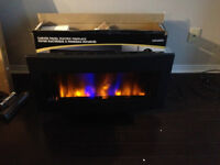 curved electric fire place