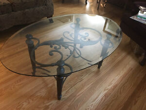 Beautiful glass coffee table